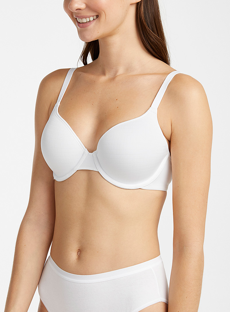 Warner's White Cloud 9 full coverage bra for women