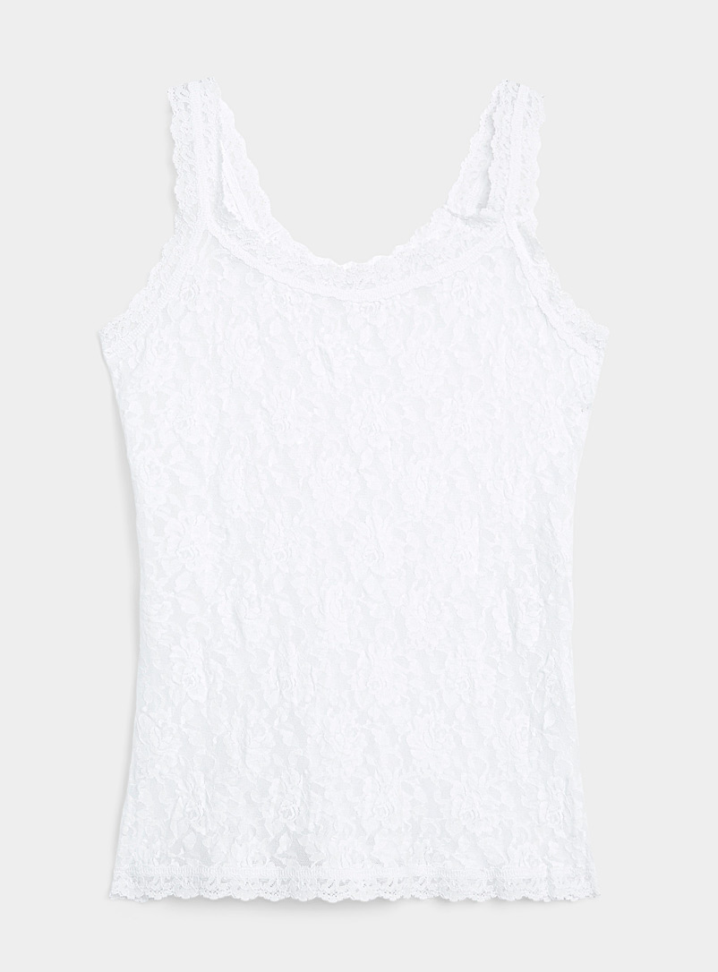 Hanky Panky White All-lace cami for women