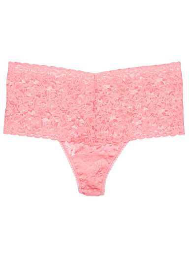 Rosebush lace retro thong