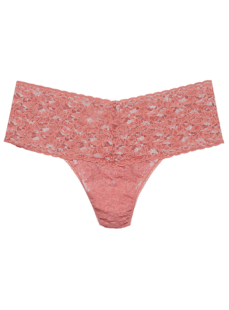 Hanky Panky Pink High-waist all-lace thong Plus size (fits 14 to 24) for women