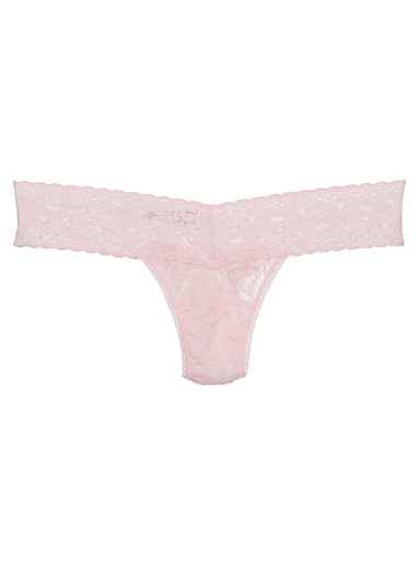 Rosebush lace low-rise thong