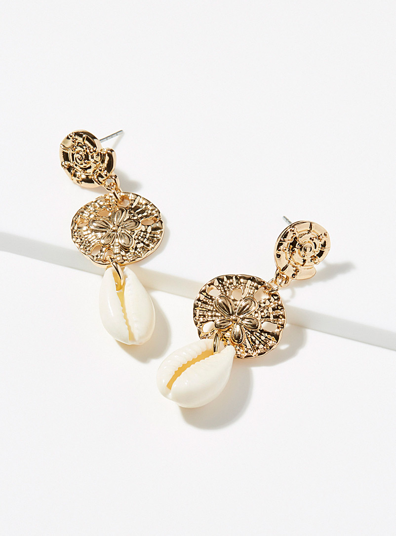 Simons Assorted Precious seashell earrings for women