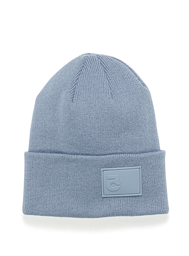Rubber-logo ribbed tuque