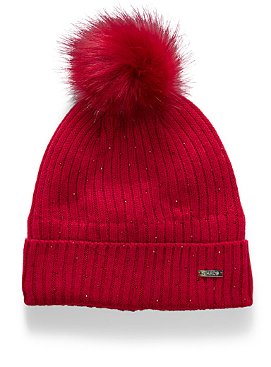 Sparkles and pompom tuque
