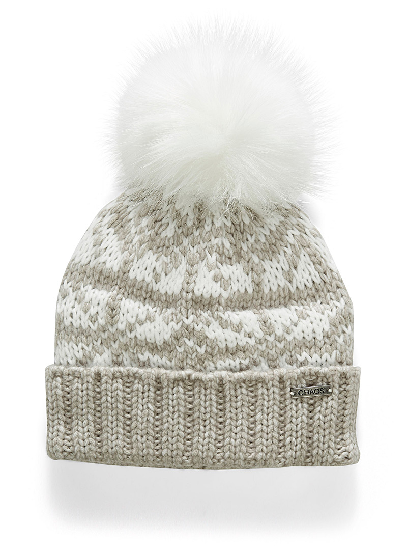 Jacqueline jacquard tuque - Tuques & headbands - Light Brown