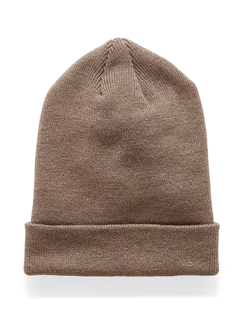 Chaos Light Brown Soft cuffed tuque for women