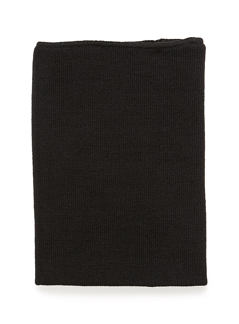 Solid double layer tube scarf - Assorted accessories - Black