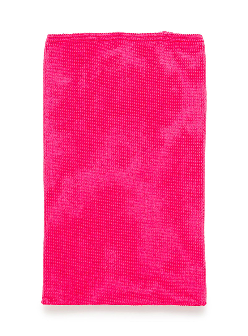 Solid double layer tube scarf - Assorted accessories - Pink