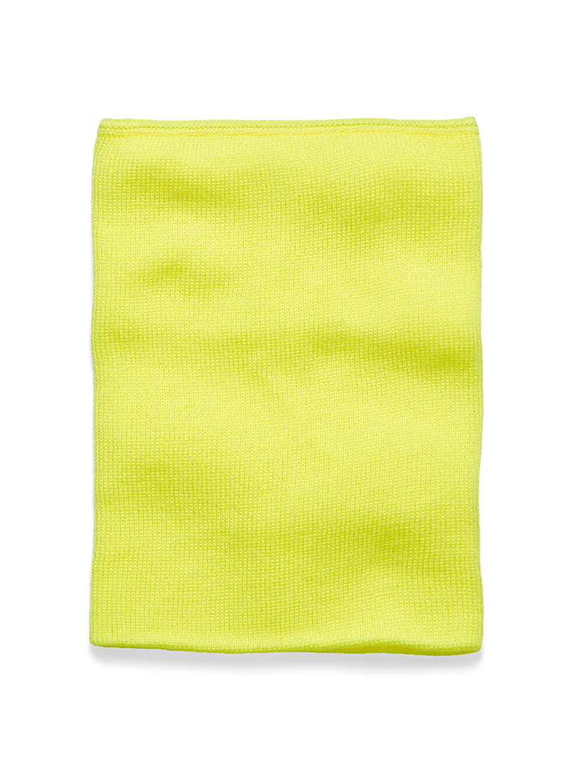 Solid double layer tube scarf - Assorted accessories - Bright Yellow