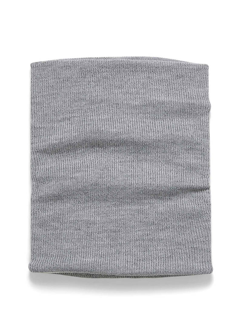 Mixed knit neck warmer - Tuques & other - Grey