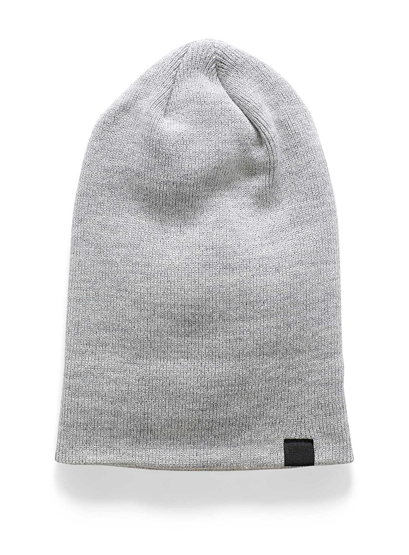Reflective detail cuffed tuque - Tuques & other - Grey