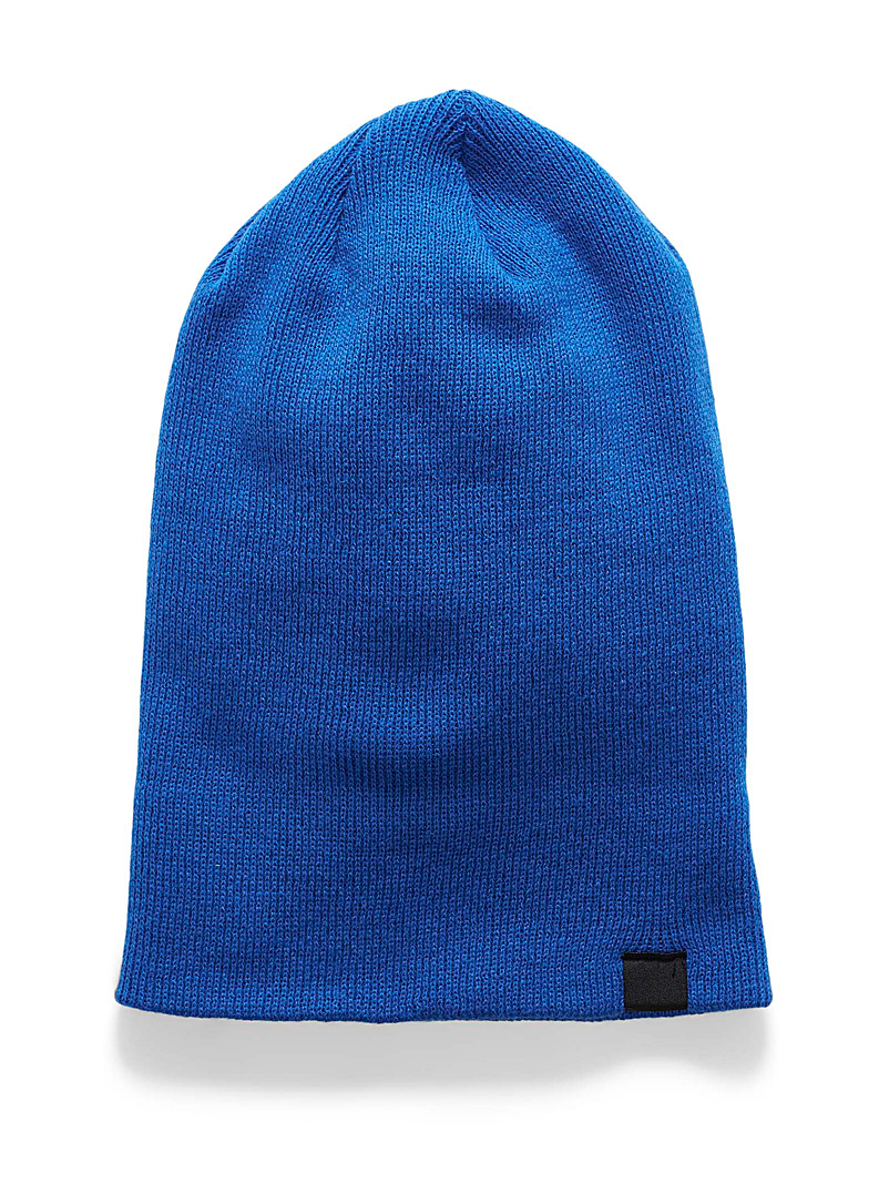 Reflective detail cuffed tuque - Tuques & other - Blue
