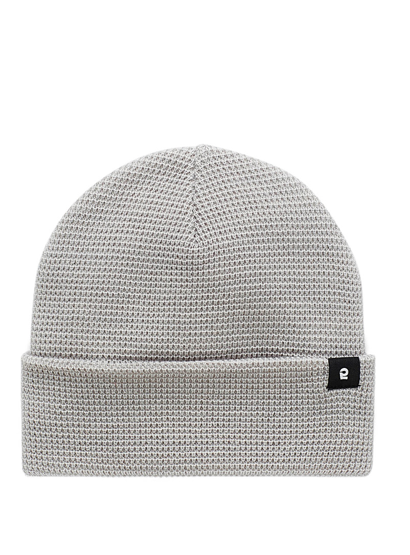 I.FIV5 Grey Eco-friendly waffle knit tuque for men