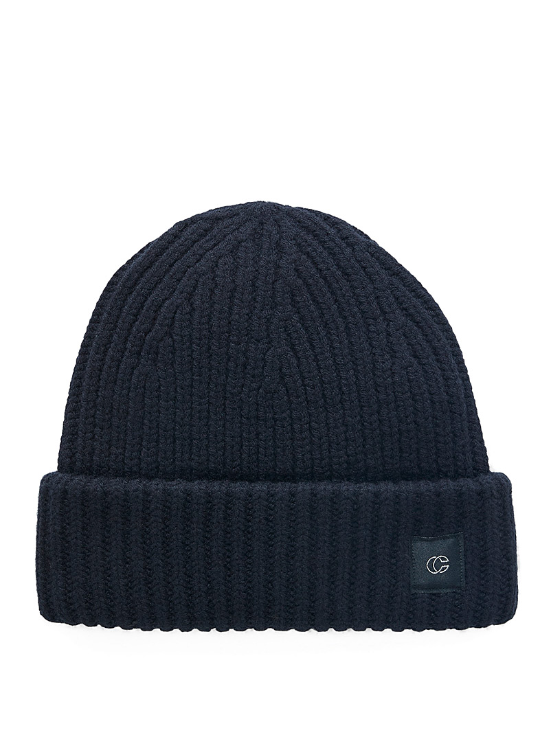 Merino wool ribbed tuque