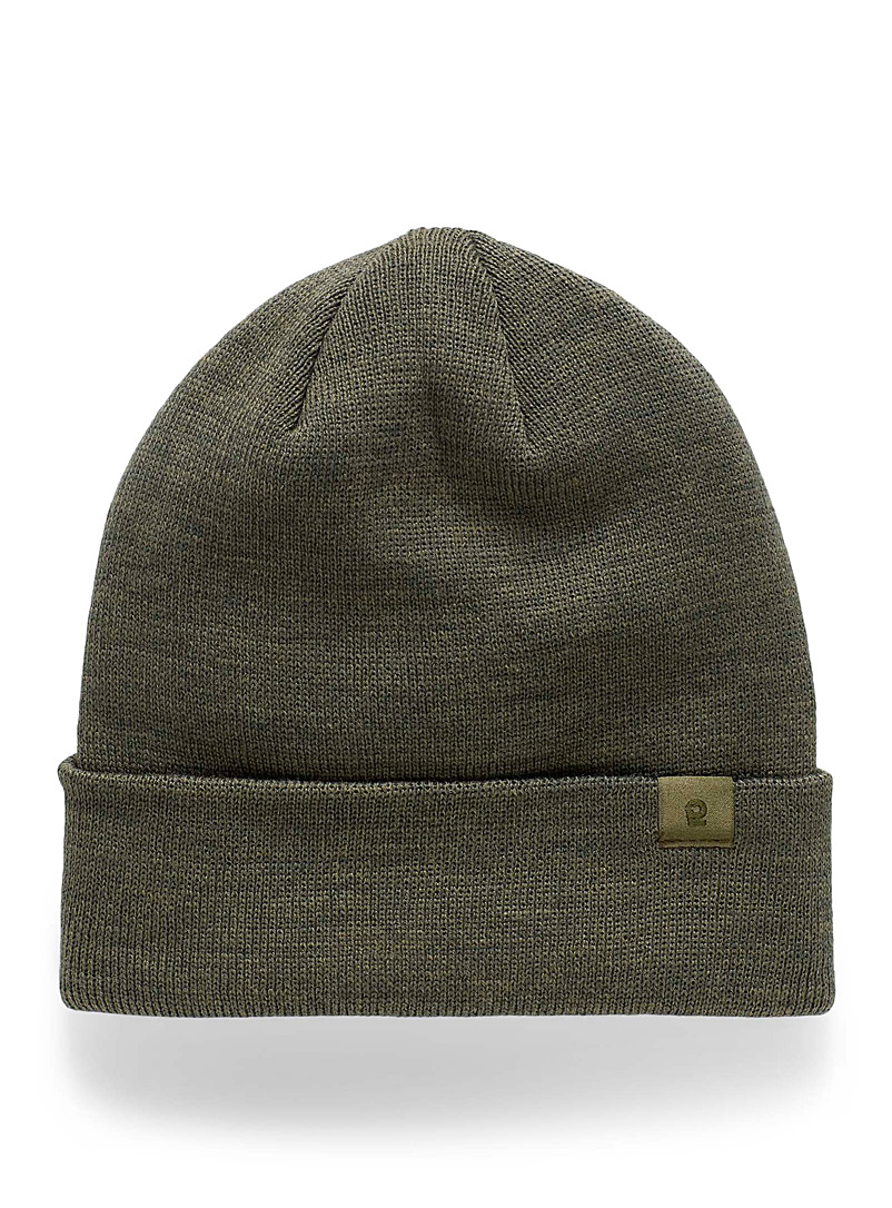 I.FIV5 Mossy Green Eco-friendly knit mini-logo tuque for women