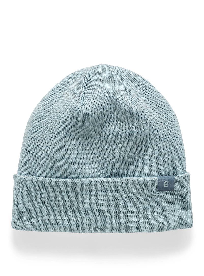 I.FIV5 Baby Blue Eco-friendly knit mini-logo tuque for women