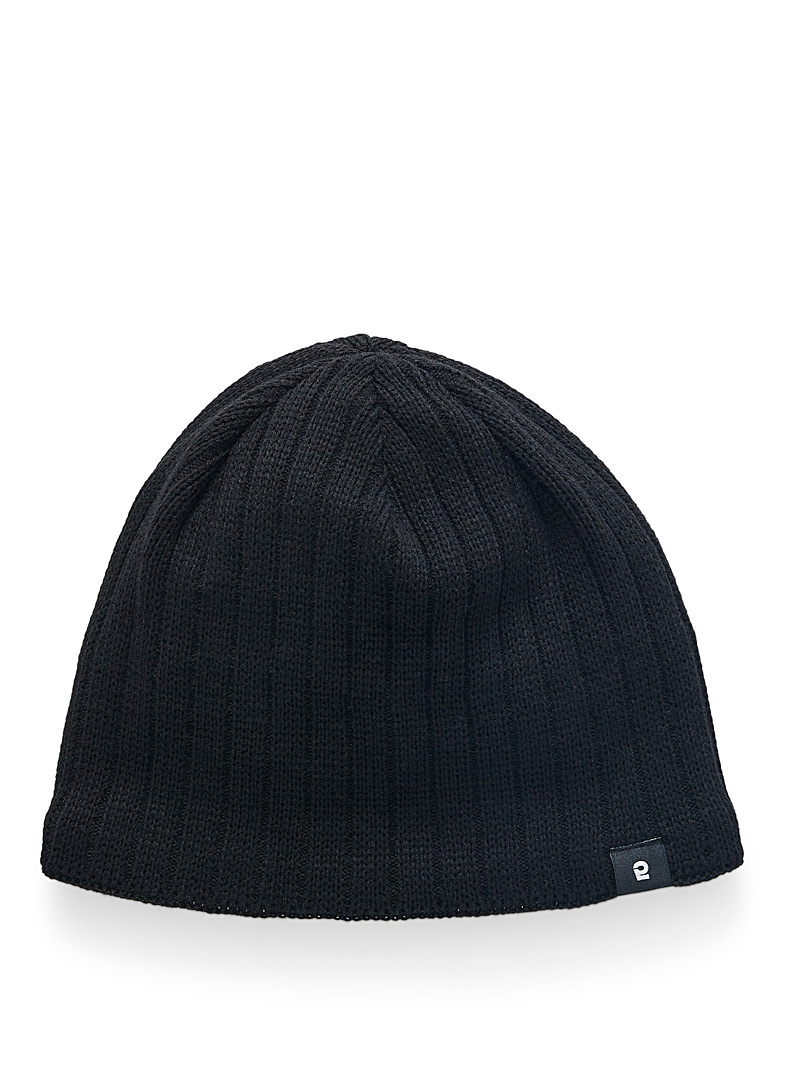 Eco-friendly fibre ribbed cropped tuque
