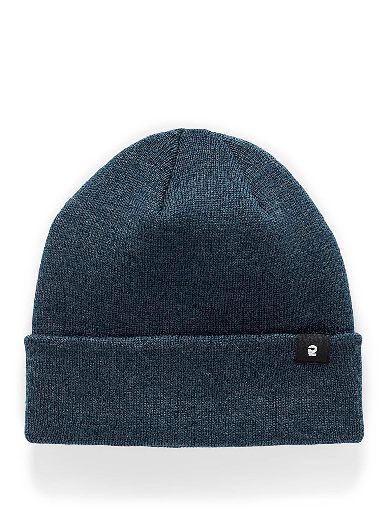 I.FIV5 Blue Solid eco-friendly knit tuque for men