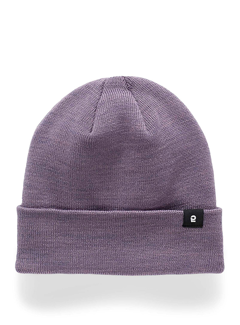 I.FIV5 Lilacs Solid eco-friendly knit tuque for men