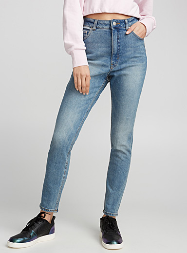 Le mom jeans taille haute Donna
