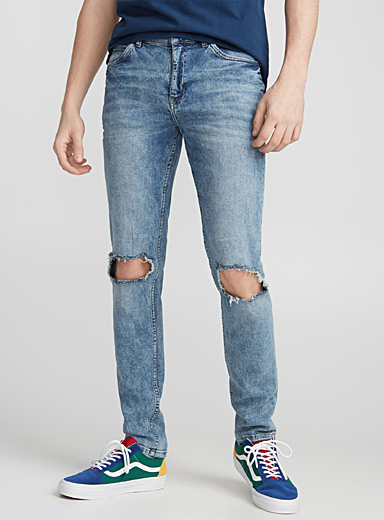 Faded open-knee Tight jean  Skinny fit
