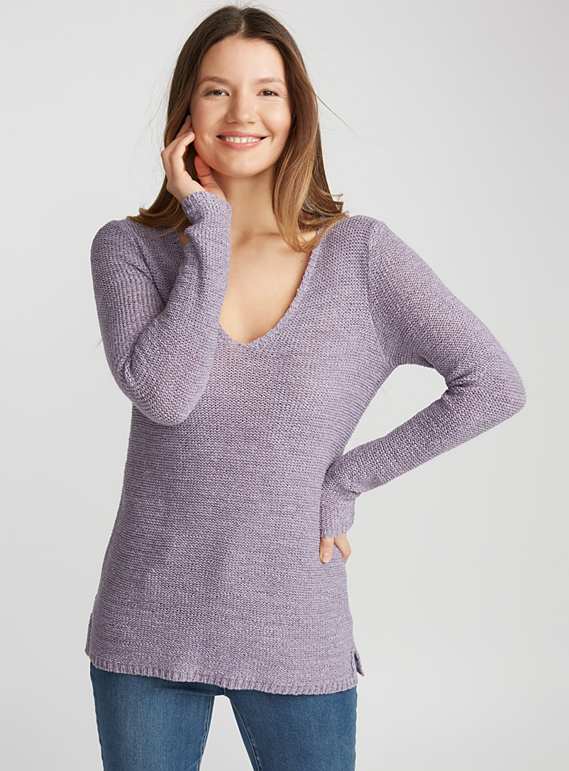ribbon-knit-v-neck-sweater