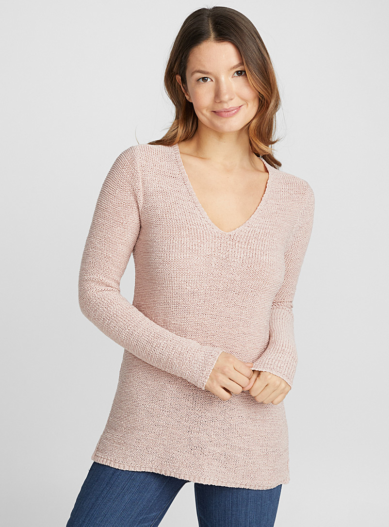 Le pull col V maille ruban - Pulls - Pêche