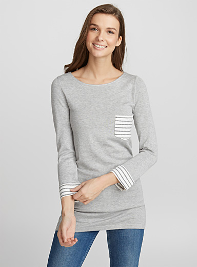 Accent-pocket tunic