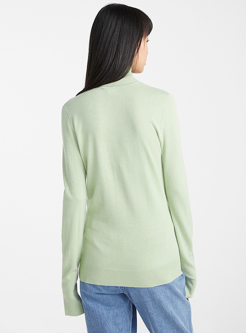Viscose-knit turtleneck - Sweaters - Lime Green
