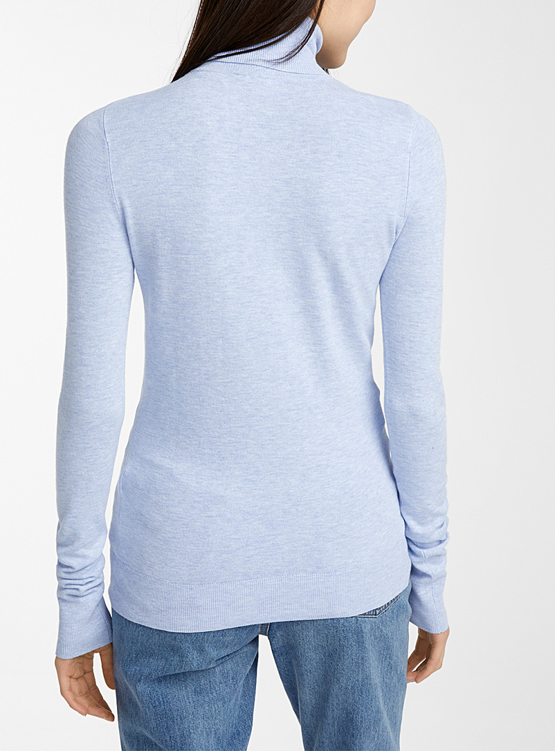 Viscose-knit turtleneck - Sweaters - Baby Blue