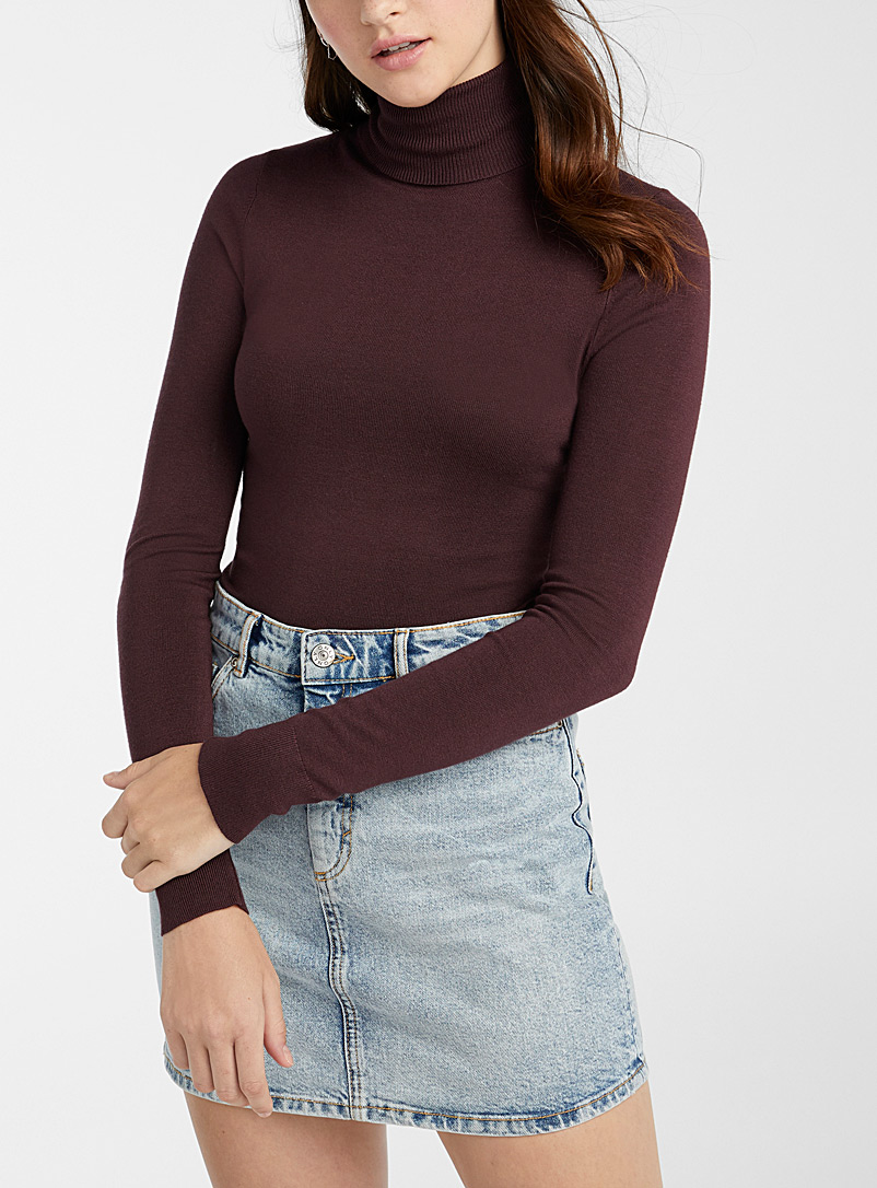 Twik Crimson Viscose-knit turtleneck for women