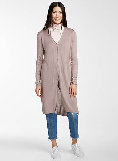 Buttoned maxi cardigan