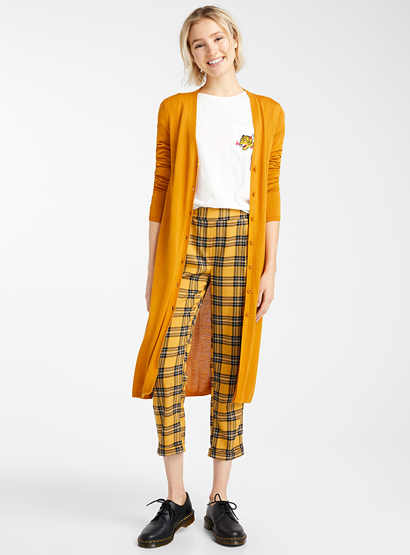Buttoned maxi cardigan - Cardigans - Golden Yellow