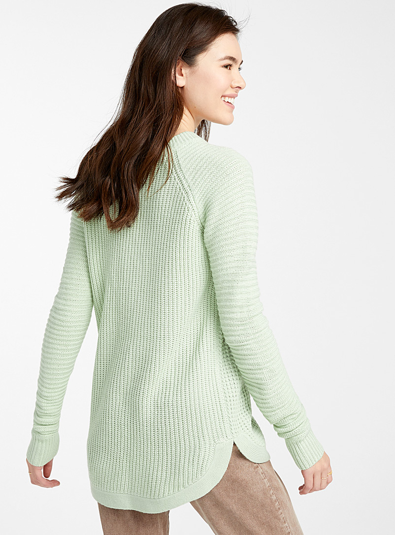 Waffle-knit sweater - Sweaters - Lime Green