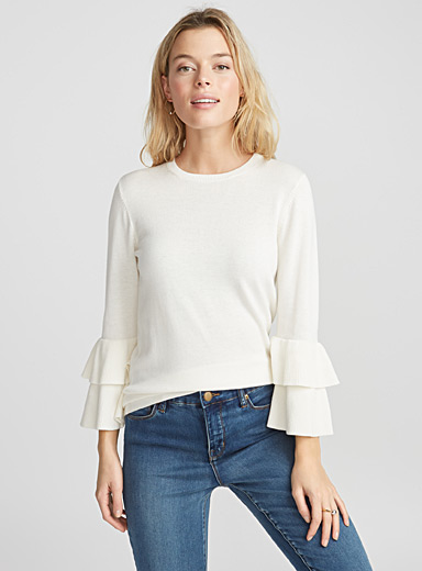 Le pull manches volants