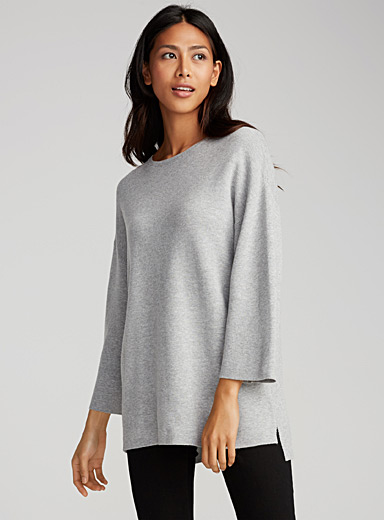 Le pull tricot double face