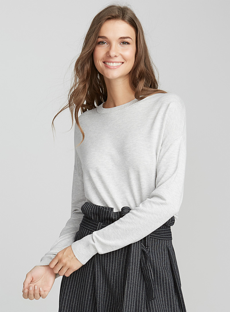 Le pull col rond tricot soyeux - Pulls - Oxford