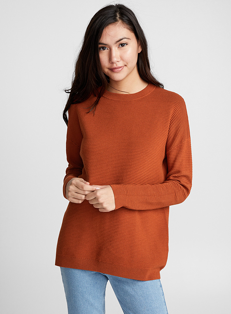 Ottoman sweater - Sweaters - Dark Brown