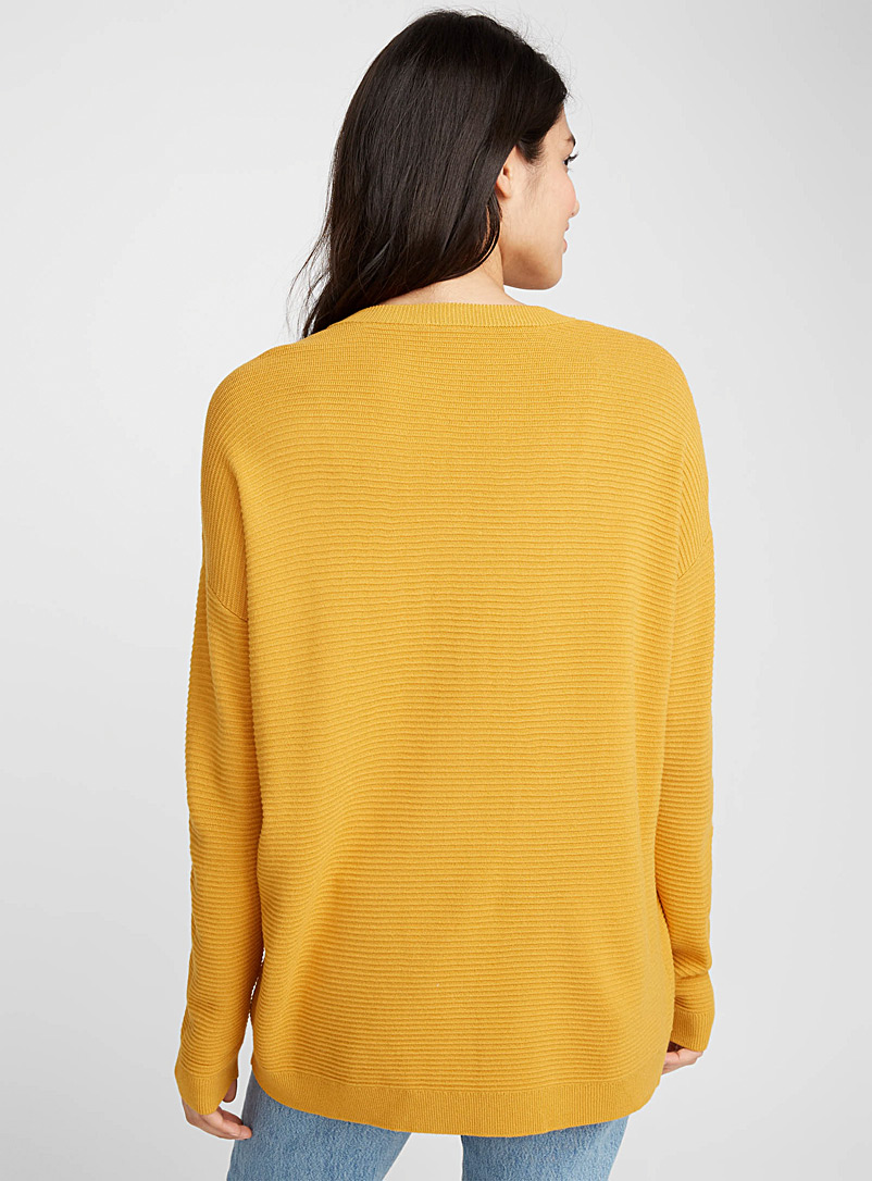 Ottoman sweater - Sweaters - Golden Yellow