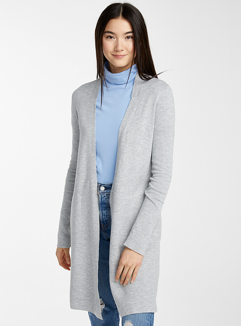 Double-faced cardigan - Cardigans - Light Grey