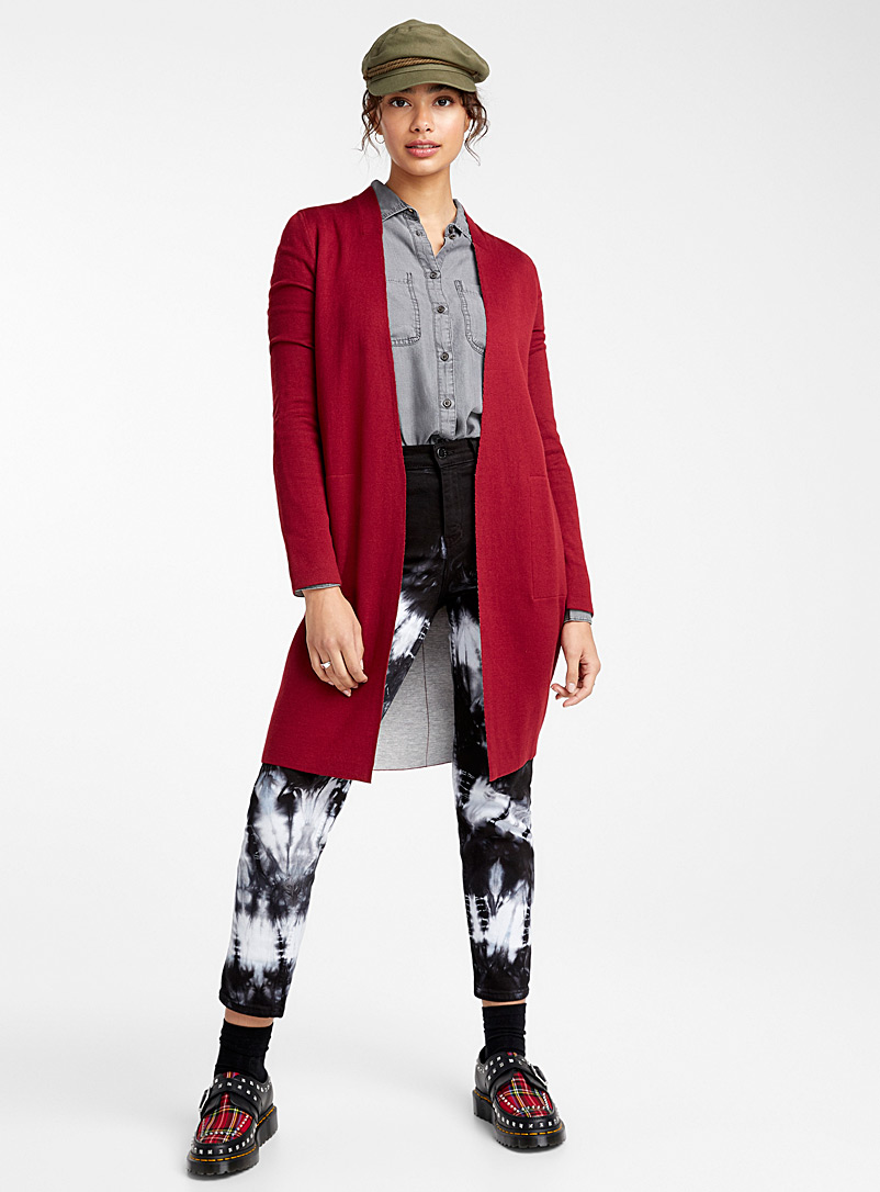Double-faced cardigan - Cardigans - Ruby Red