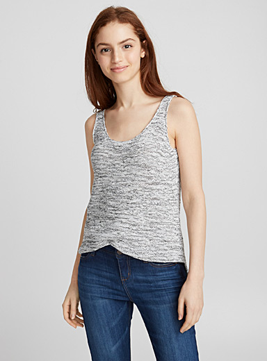 Ribbon knit camisole