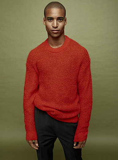Chain knit mohair sweater
