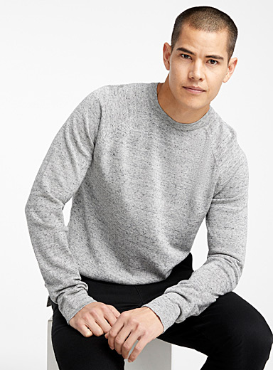 Organic cotton crew neck sweater