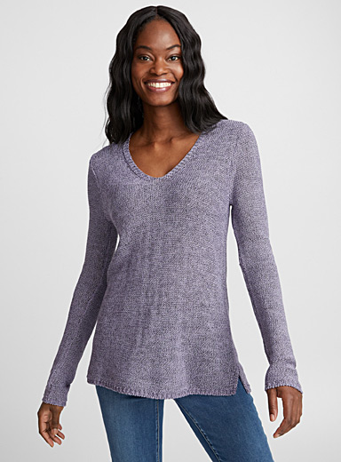 Le pull maille ruban satinée