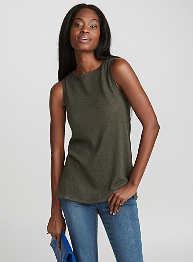 Linen knit tunic camisole