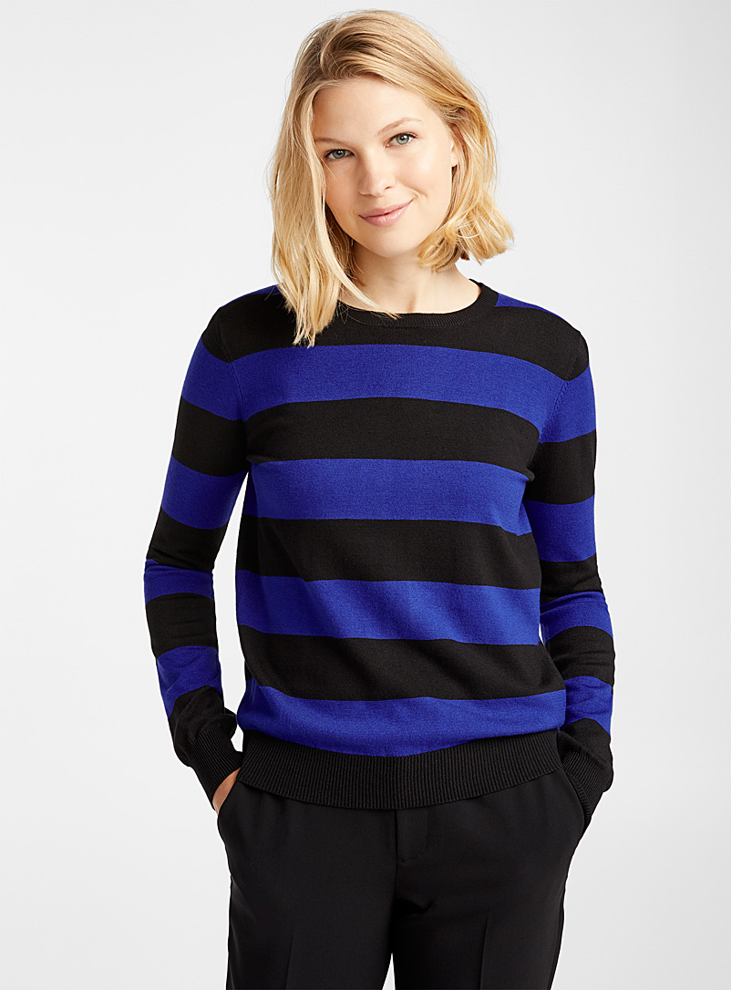 Striped crew-neck sweater - Sweaters - Assorted