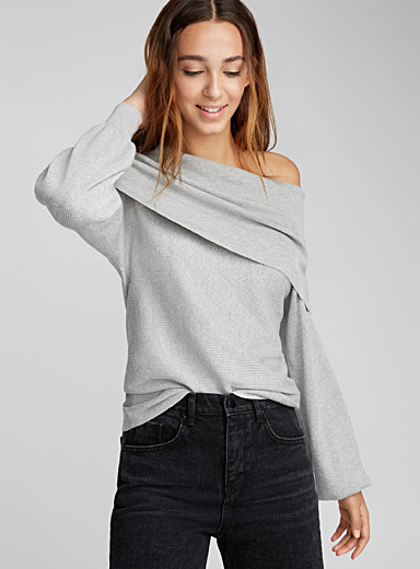 Marylin collar ribbed sweater