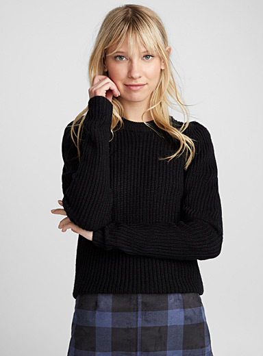Le pull manches gigot