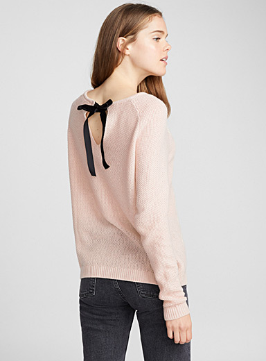 Le pull dos boucle velours